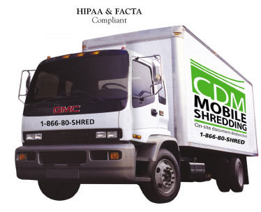 CDM Mobile Shredding Truck